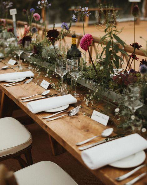 Living Floral Runner For Wedding Tables