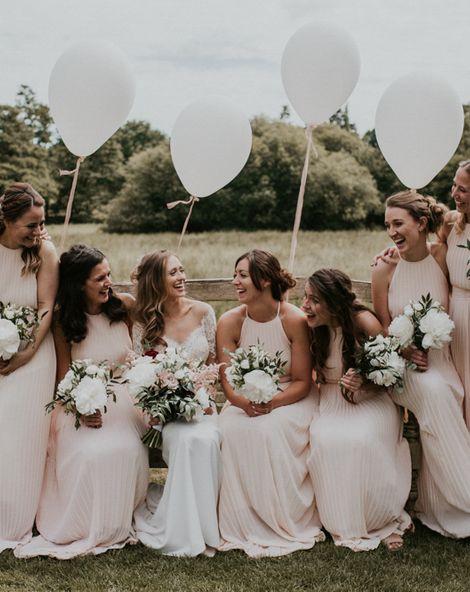 Millbridge Court, Surrey Wedding with DIY Decor, Foliage & Giant Balloons | Madison James Bridal Gown | Black Tie Suits | Nataly J Photography