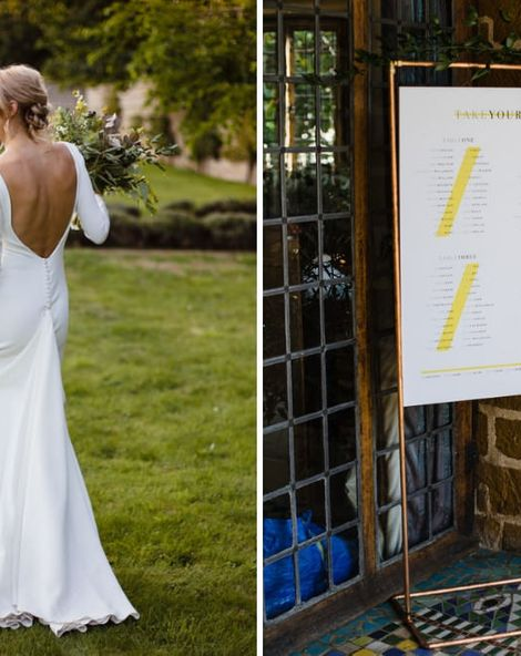 Ivania Pronovias Wedding Dress with Long Sleeves and Minimalist Styling | Dessy Bridesmaids Dresses | Voewood Wedding Venue | Chris Barber Photography