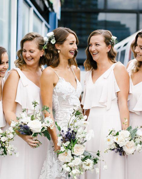 Rosa Grace Loves Lace Wedding Dress Shoreditch Wedding at Village Underground | Coast Bridesmaids Dresses | Chris Barber Photography