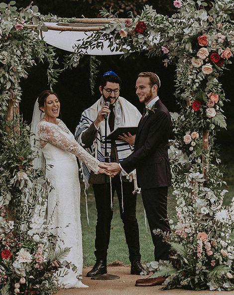 Jewish English Countryside Wedding at Babington House with Floral Chuppah