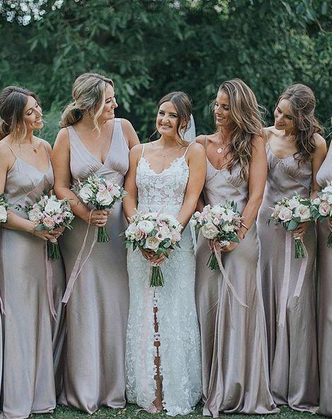 Satin Bridesmaid Dresses