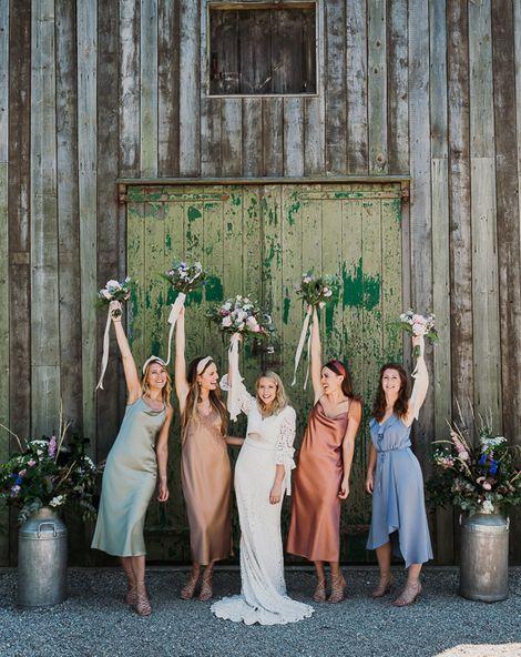 Different Coloured Bridesmaid Dresses