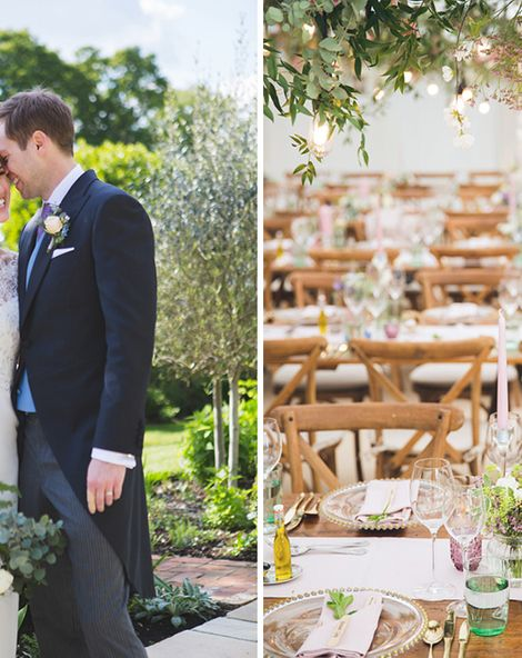 Pastel Wedding at West Sussex Country Home With Spring Flowers