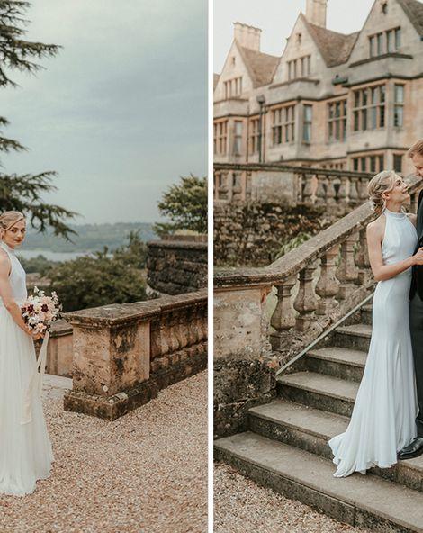 Stella McCartney Wedding Dress For Black Tie Wedding In Somerset