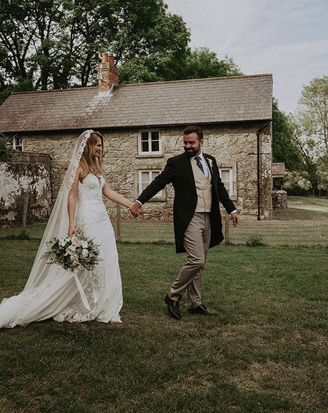 Lace Edge Veil For English Country Wedding At Appuldurcombe House