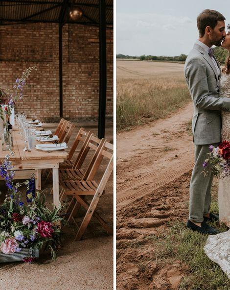 Norfolk Wedding Venue With Rustic Decor & Woodland Ceremony