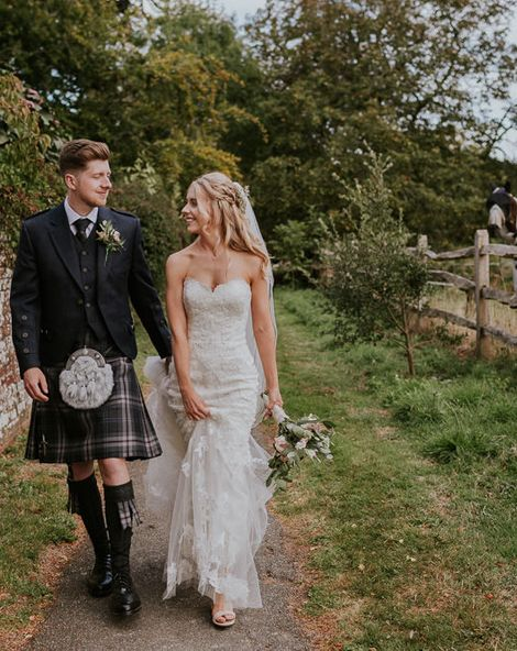 Enzoani Wedding Dress For Sussex Country Garden Marquee Celebration