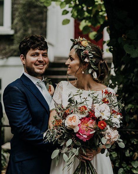Islington Town Hall Wedding With Pub Party Reception & Bright Flowers