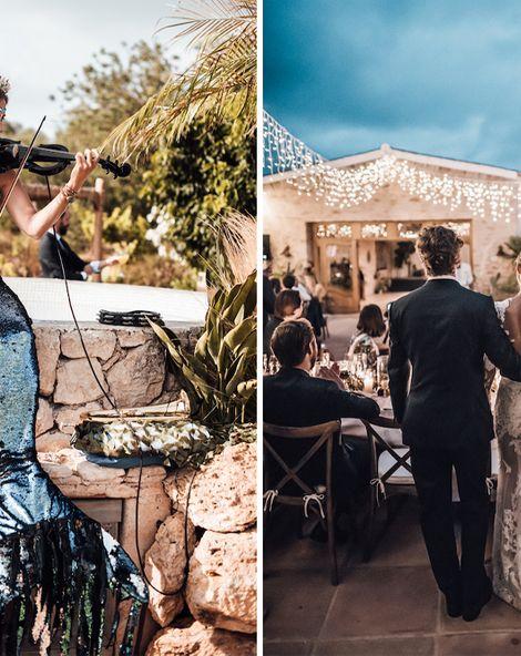 Glitzy & Fun Ibiza Wedding with Singing Mermaid Jazz Band & Samba Dancers