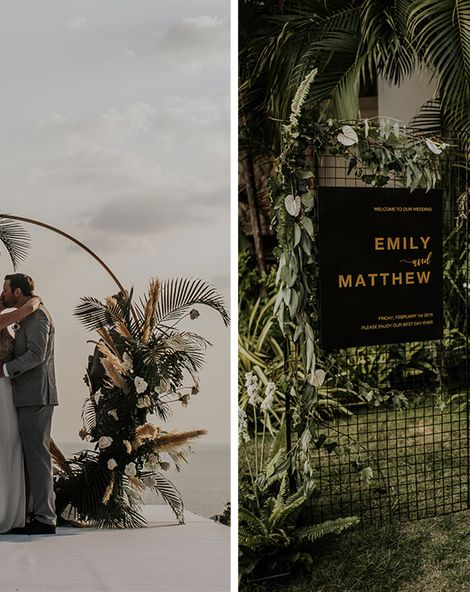 Thailand Wedding With 35 Guests And Hanging Light Installation