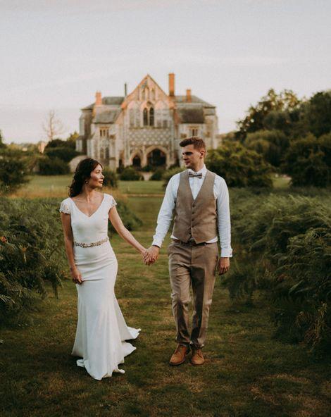Humanist Wedding Ceremony with Outdoor Speeches & Pronovias Dress