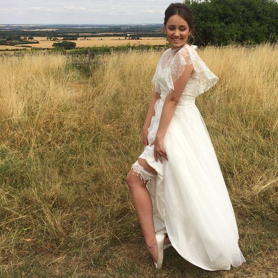 silk garters freshwater pearls french lace wedding garter