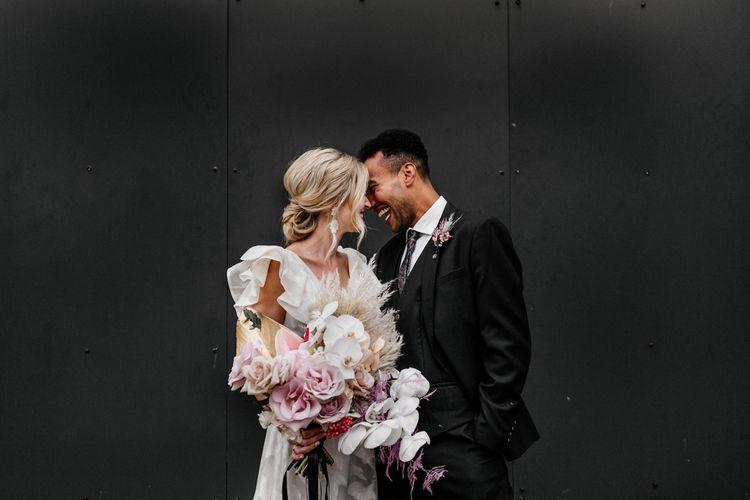 epic love story loft studios alternative fun london wedding photographer 141