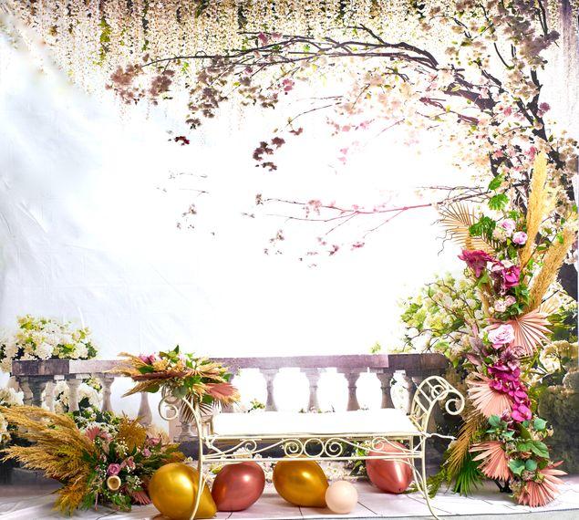 florals of splendour birthday background 50