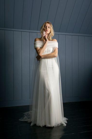 MANET CAPE LONG OLIVER DRESS1