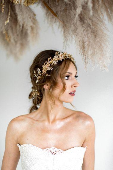 aureus flos aureus flos fine art wedding accessories orla headband botanica collection10