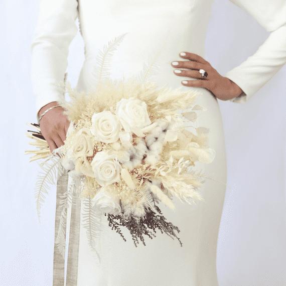 shida preserved flowers white wedding