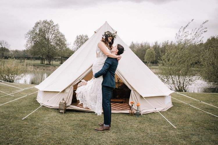 north sky yurts couple bell tent