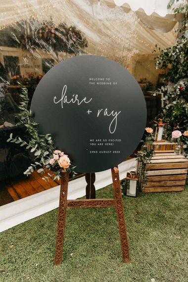 made by wood wood stationery wedding stationery signage venice classic luxury modern 6