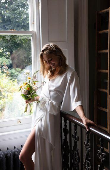 Joni white wrap wedding dress bridal 5 1