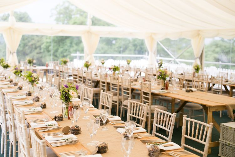 barny lee marquees marquee hire barny lee marquees vintage trestles with hesian runners 1
