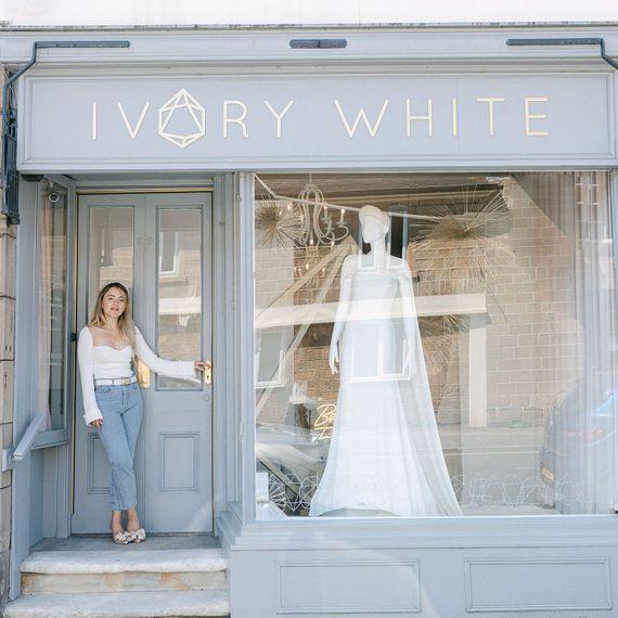 Ivory White Bridal 163square
