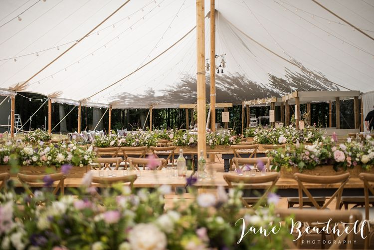 shades wedding breakfast and wedding flowers   sailcloth tent.  image by jane beadnell photography