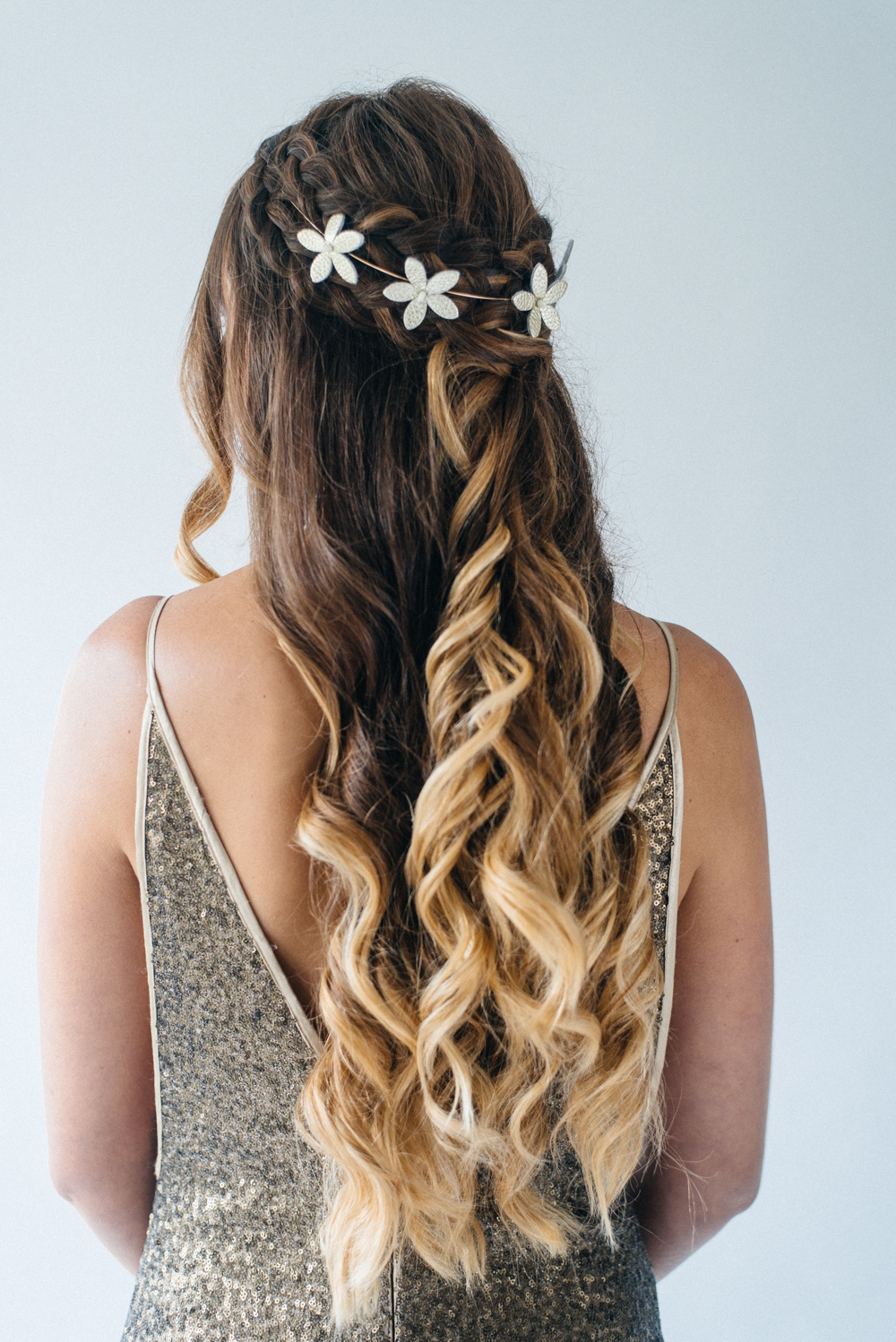 hair half up styles inspiration for half up half wedding hair with 4495