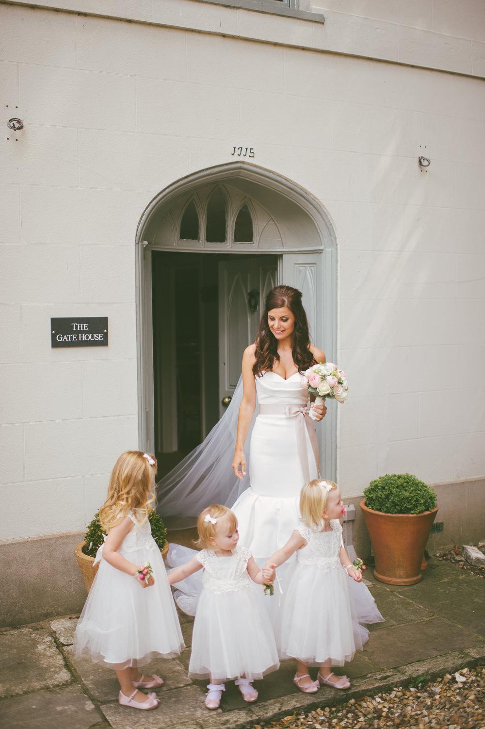 Fuchsia Pink Bridesmaids Dresses Vera Wang Bridal Gown