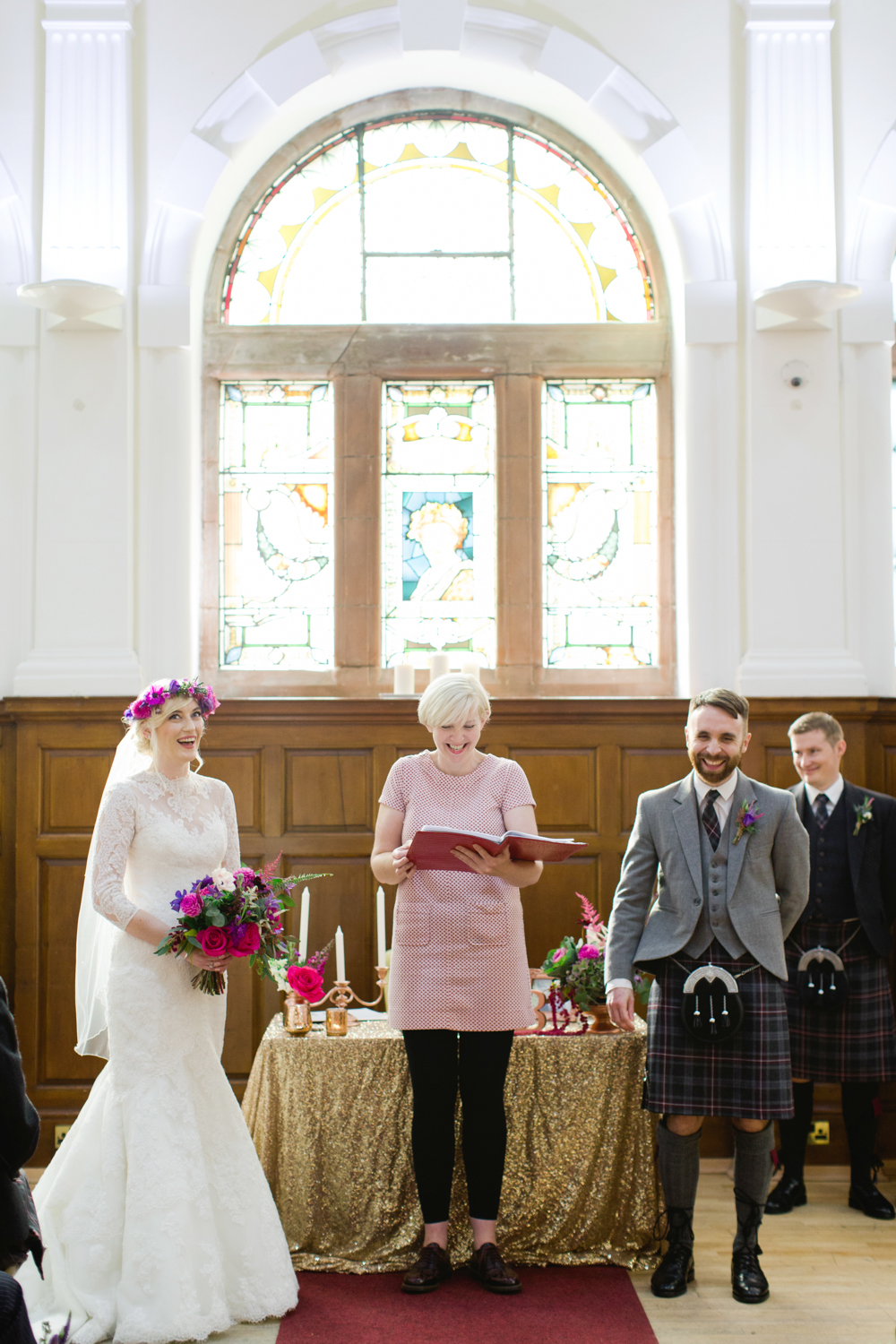 Jewel Toned Wedding at Pollokshields Burgh Hall in Glasgow with Lace ...