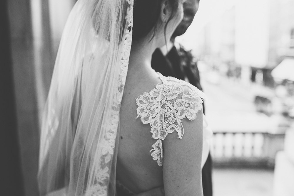 Contemporary Winter Wedding in Dublin with David Fielden Bridal Gown ...