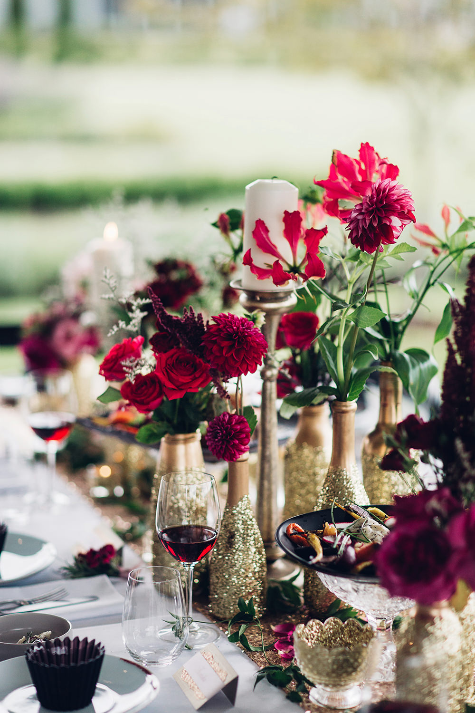 Elegant Metallic Gold Red Wedding Inspiration From Miss