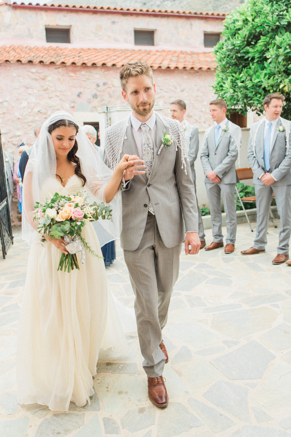 Traditional Greek Wedding With Sarah Seven Dress Nude