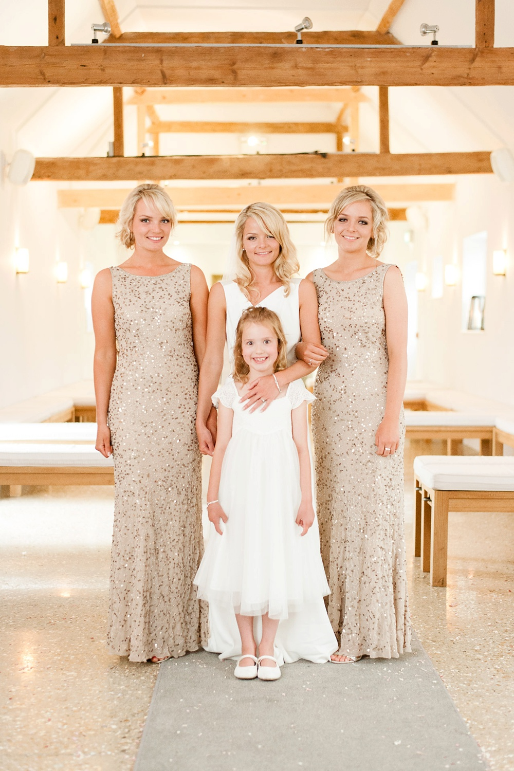 Southend Barns Elegant Wedding With Gold & White Colour Scheme Bride ...