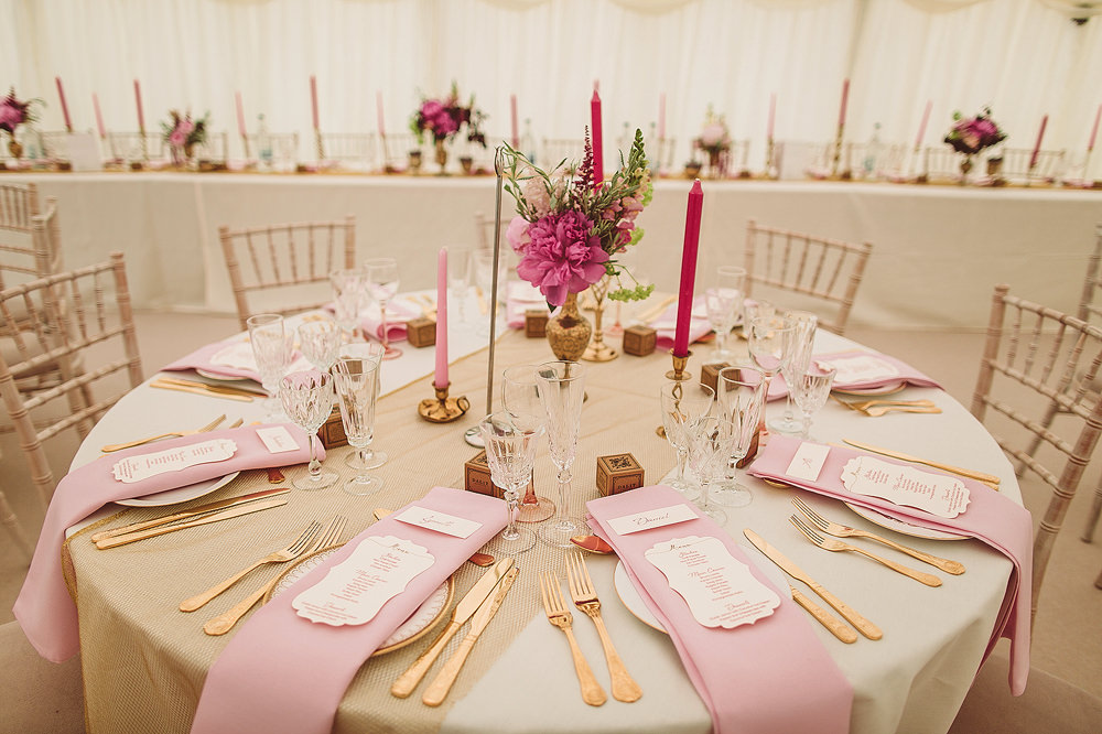 Blush Pink Gold Colour Scheme For An English Indian Fusion
