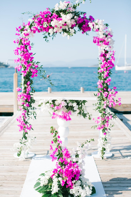 Elegant White & Gold Turkey Destination Wedding with Fuchsia Pink ...
