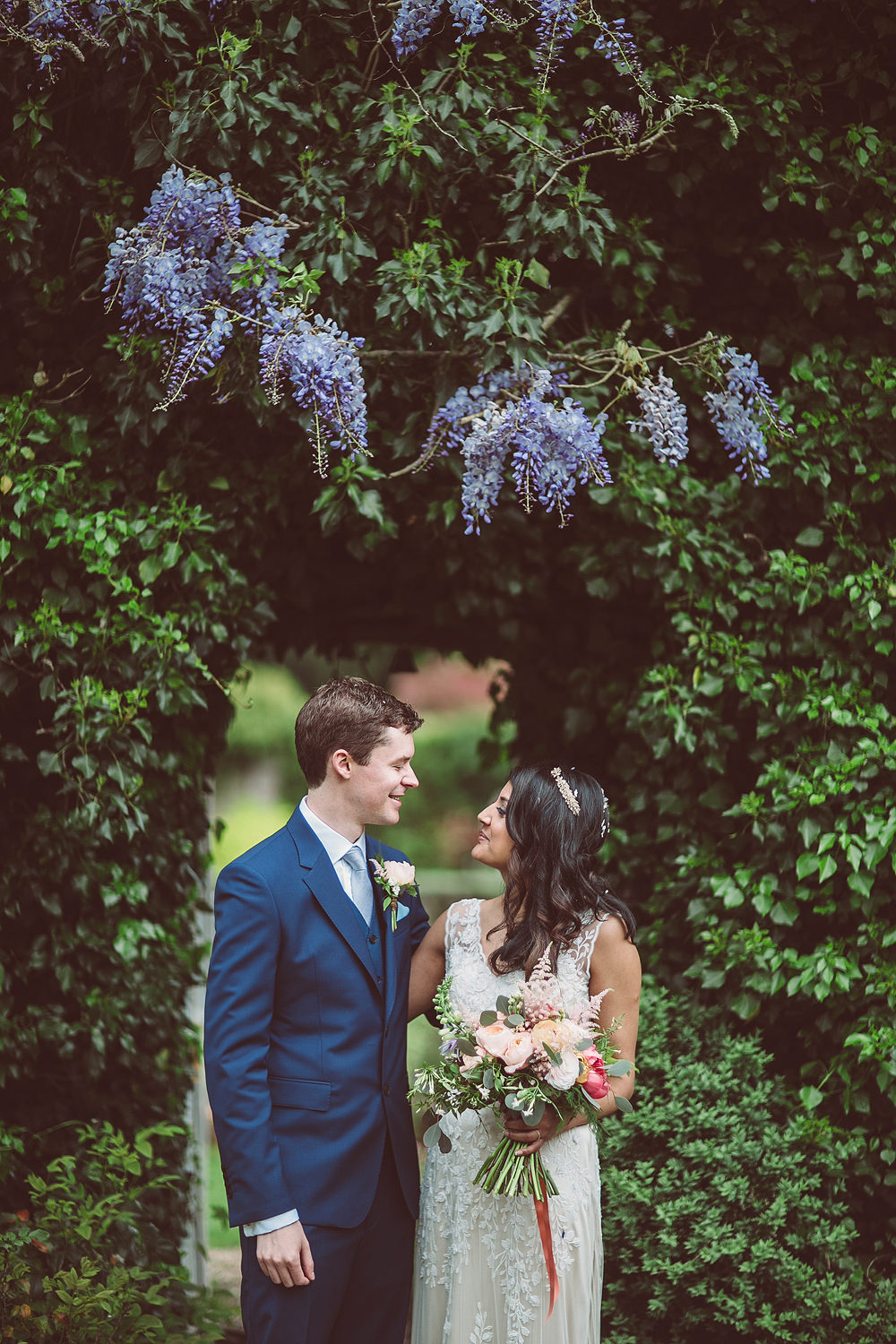 English/Indian Fusion Wedding at Northbrook Park with Coral Flowers