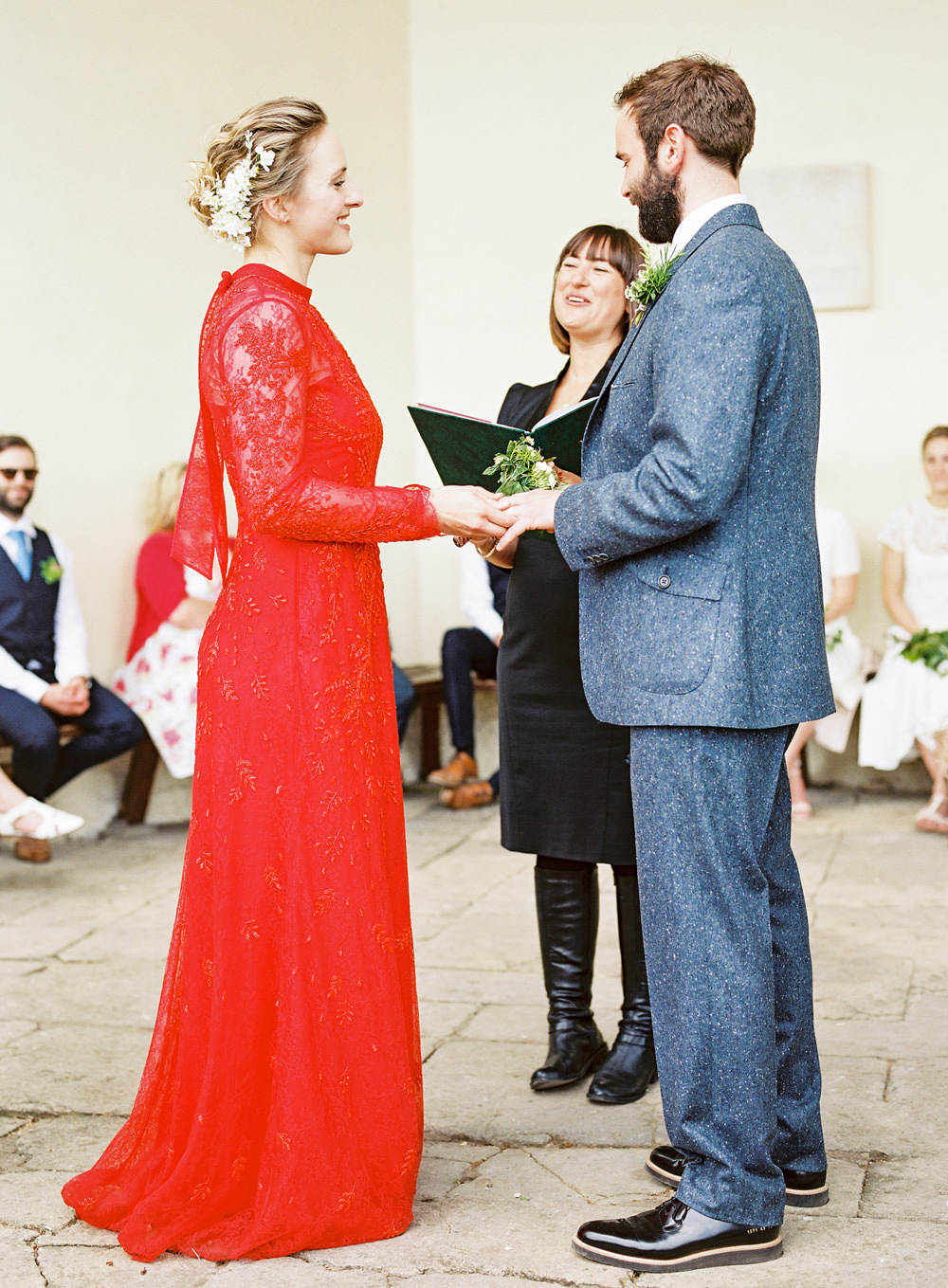 Red Valentino Wedding Dress for an Outdoor Humanist Ceremony ...