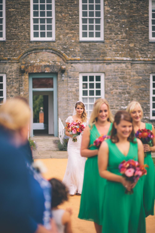 Eliza Jane Howell Jayne Wedding Dress with Bright Colour Scheme at ...