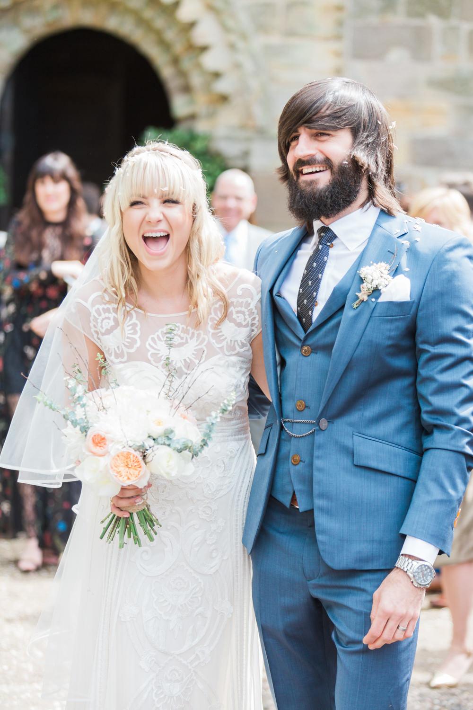 Temperley London Wedding Dress for a Peachy Wedding at Brinkburn ...