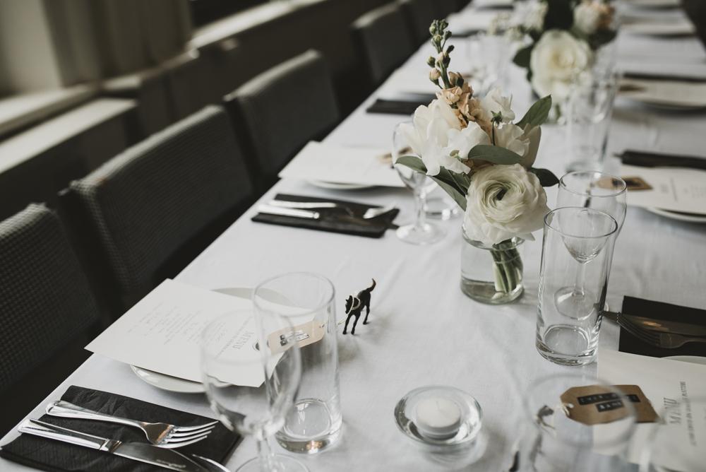 London Wedding At The Dead Dolls House Stylish Minimal Reception