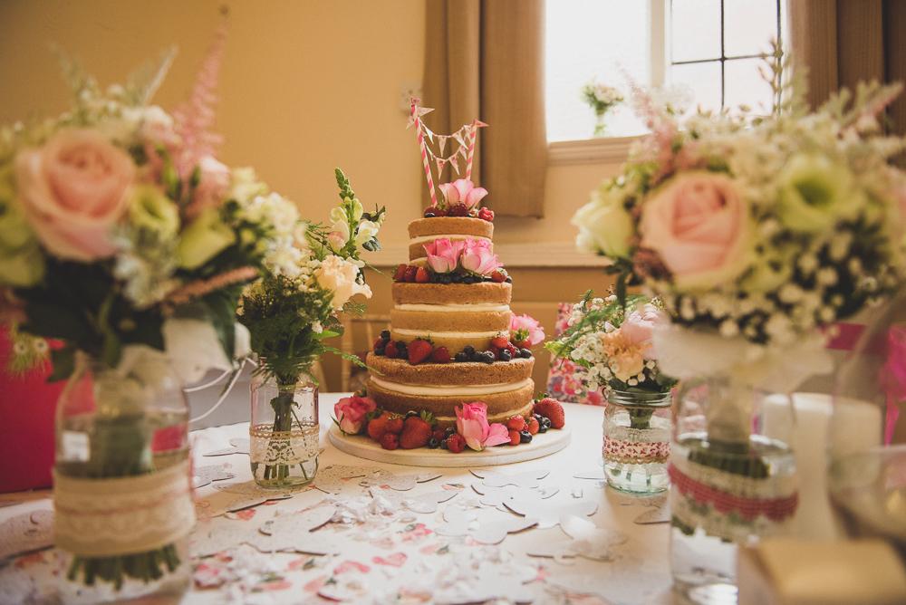 Vintage budget friendly diy village hall wedding with rosetta homemade naked wedding cake junglespirit Images