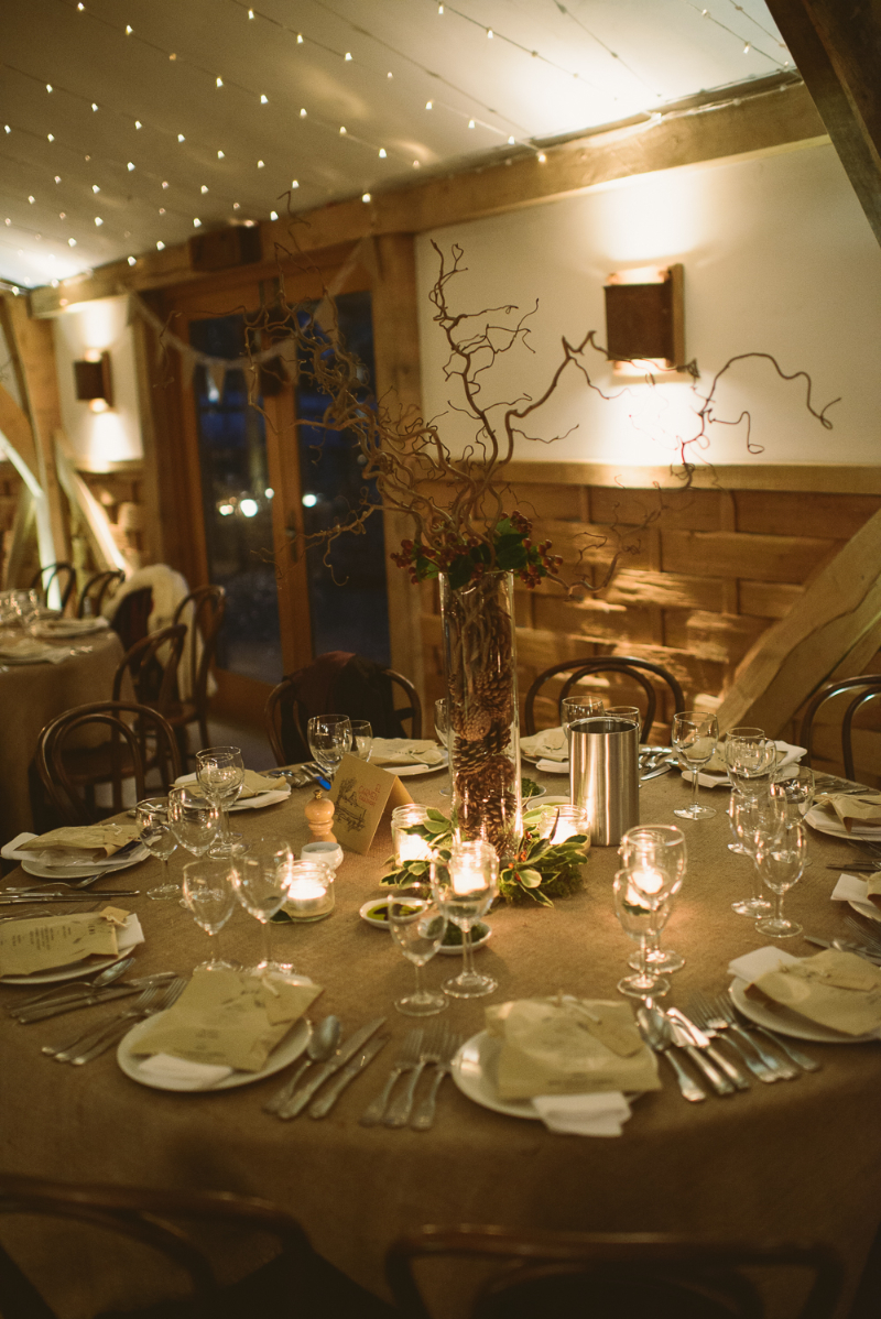 A rustic winter wedding at Cripps Barn with DIY home made decor and ...