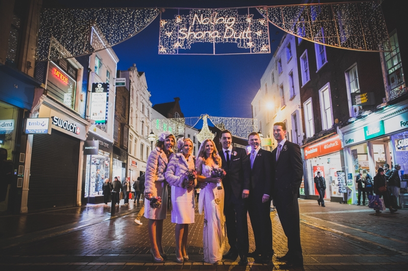 Decadent New Years Eve Wedding In Dublin With Bride In Eden By Jenny Packham And Vamp Sandals By Jimmy Choo And Groom In Navy Reiss Suit
