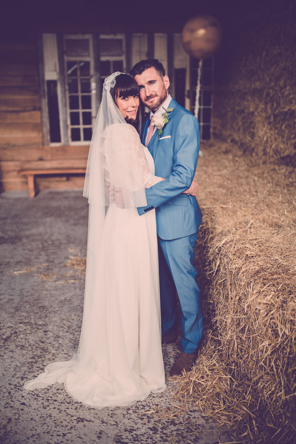 Rustic Wedding at Owen House Barn Cheshire with Rembo Bridal Gown