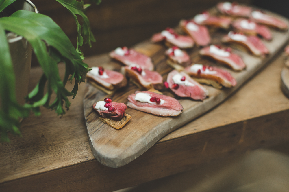 Charlie brear bride for a 1920s inspired wedding at town for Canape ideas for wedding
