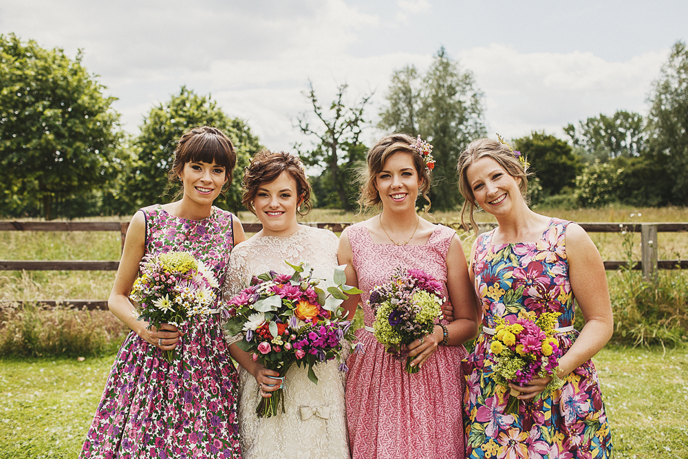 DIY Wedding at The Garden Barn in Suffolk with Vintage Dresses
