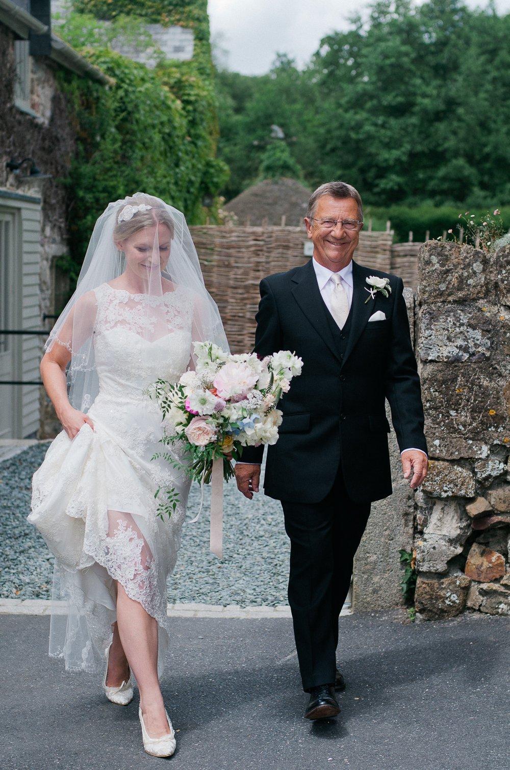 Elegant Barn Wedding At The Great Barn Devon With Bride In Lusan ...