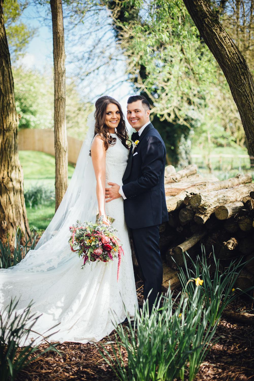 Industrial wedding at the west mill venue pronovias ornani bride in pronovias ornani bridal gown veil groom in charles tyrwitt midnight blue tuxedo ombrellifo Gallery